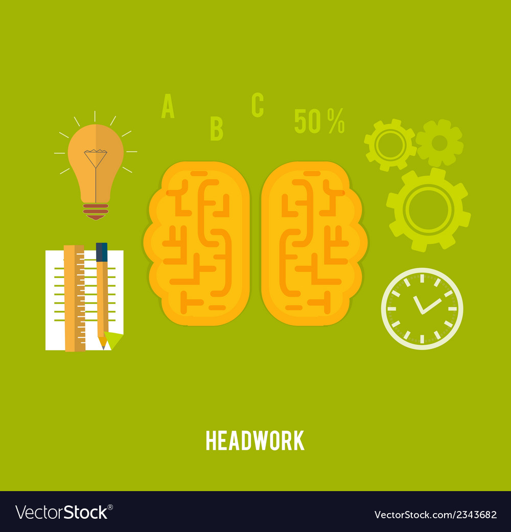 Headwork concept vector | Price: 1 Credit (USD $1)