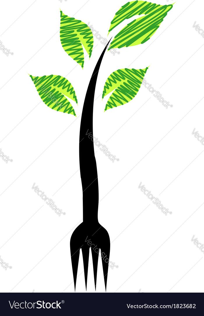 Logo for vegetarian restaurant vector | Price: 1 Credit (USD $1)