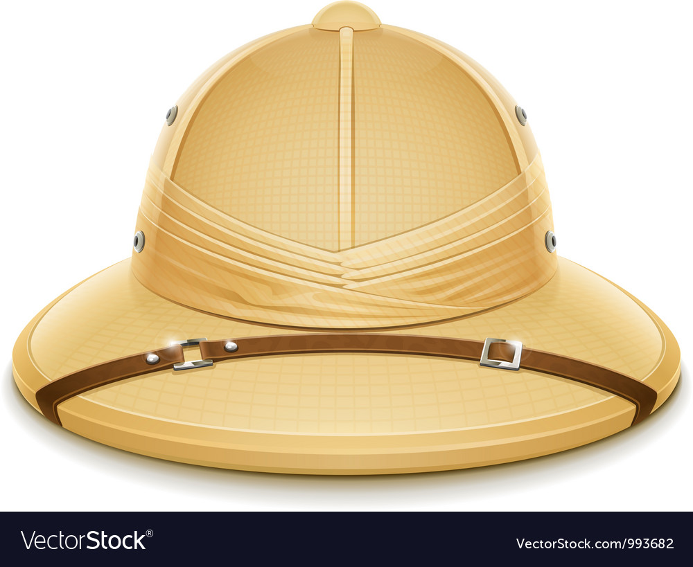 Pith helmet hat for safari vector | Price: 3 Credit (USD $3)