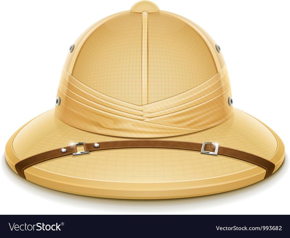 Pith helmet hat for safari vector | Price: 3 Credit (USD $3)