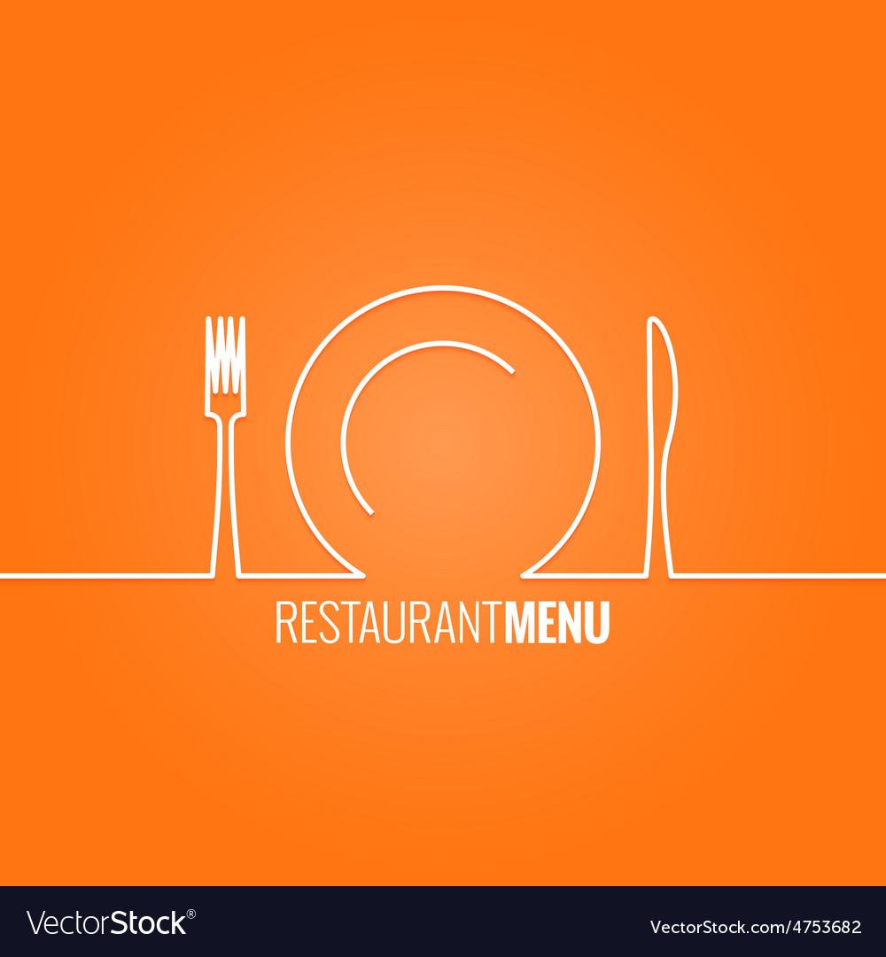 Plate fork knife design background vector | Price: 1 Credit (USD $1)