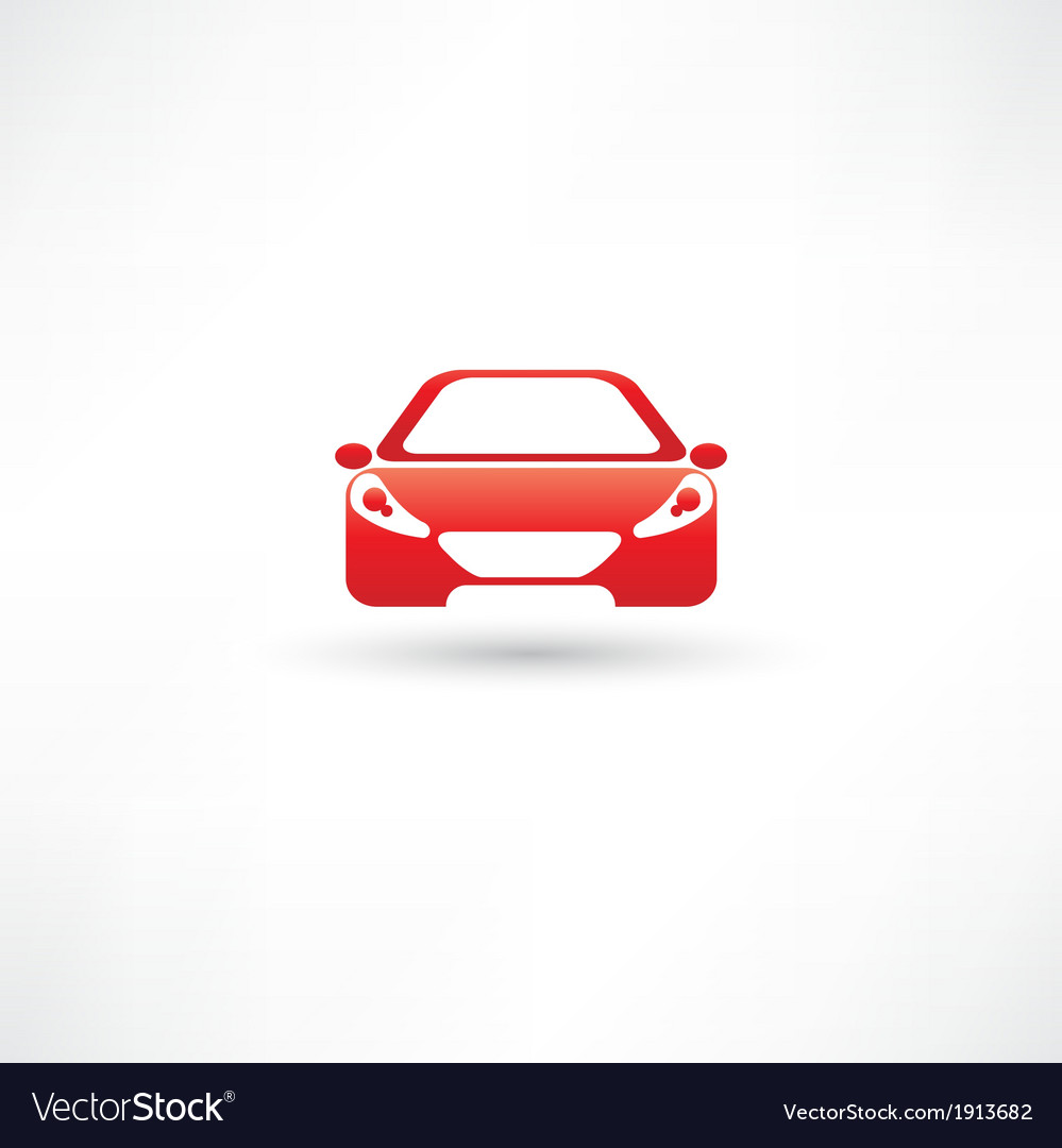 Red front car vector | Price: 1 Credit (USD $1)