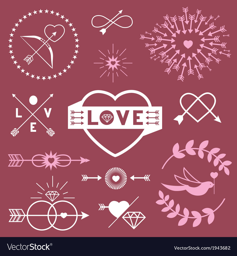 Romantic designs vector | Price: 1 Credit (USD $1)