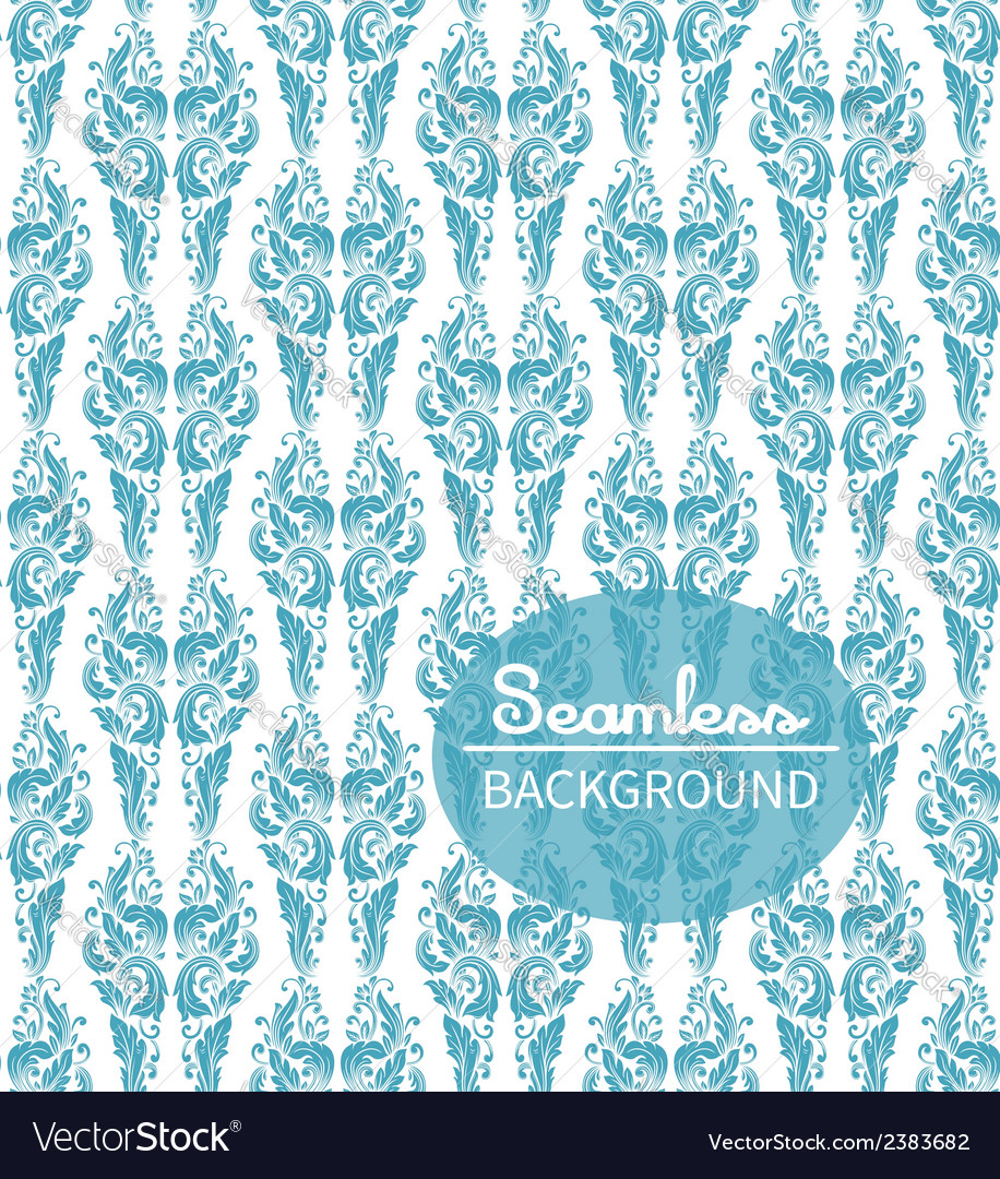 Seamless background in the style of damascus vector | Price: 1 Credit (USD $1)