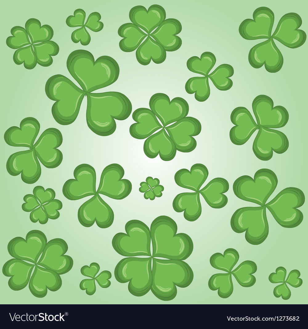 Shamrock wallpaper vector | Price: 1 Credit (USD $1)