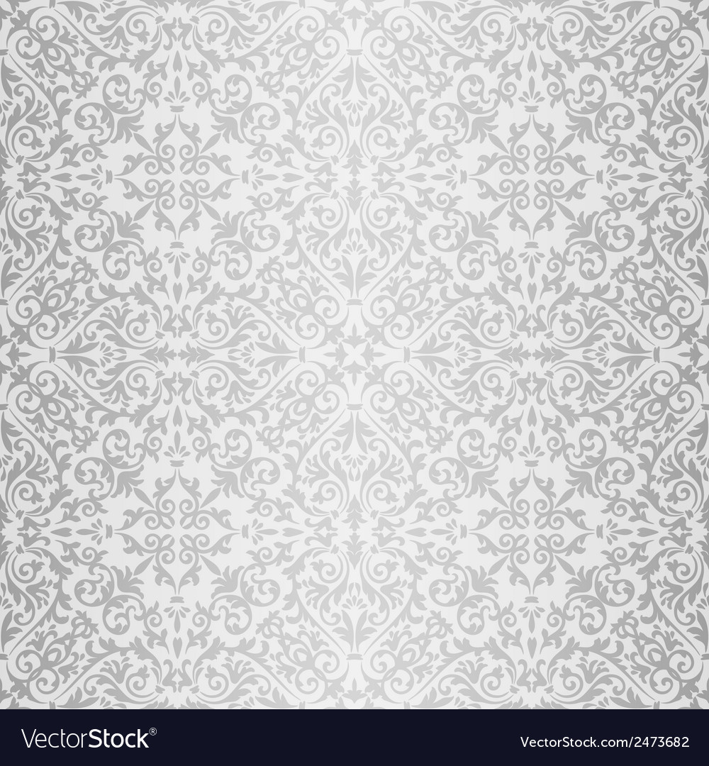 Silver baroque bright pattern vector | Price: 1 Credit (USD $1)