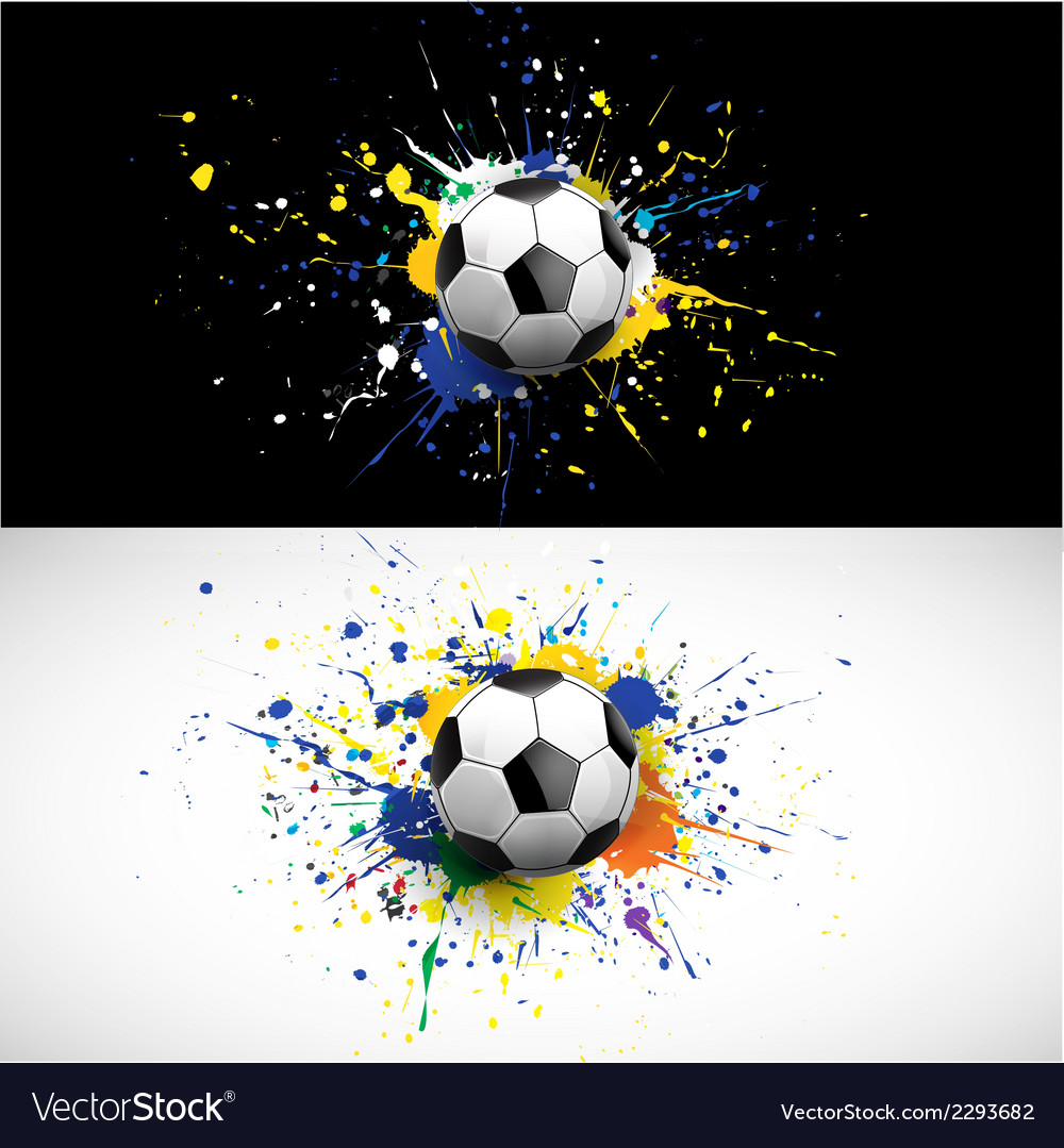 Soccer ball dash on colorful background vector | Price: 1 Credit (USD $1)