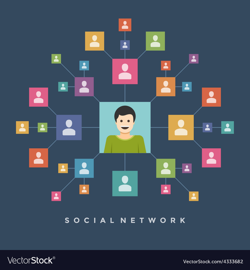 Social media network connection people concept vector | Price: 1 Credit (USD $1)