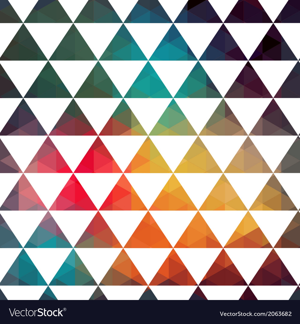 Triangles pattern modern hipster pattern colorful vector | Price: 1 Credit (USD $1)