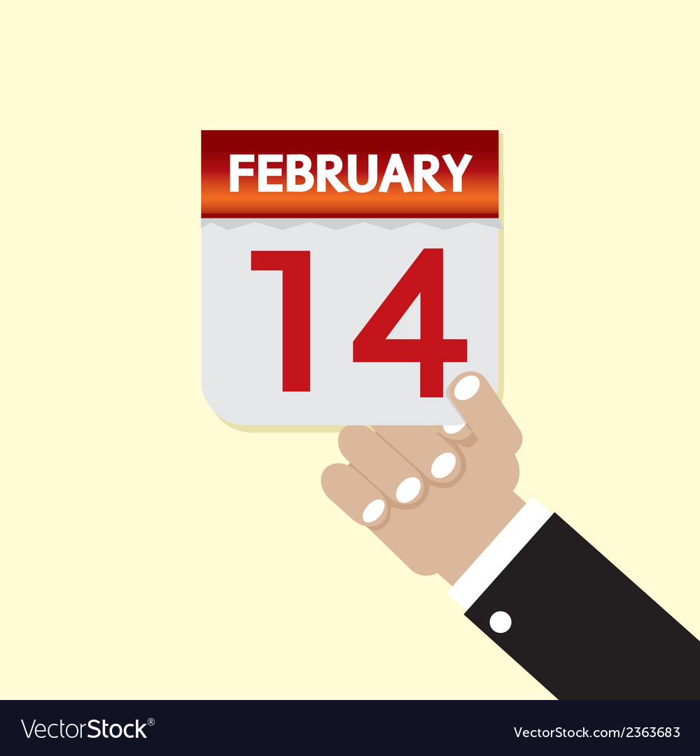 14th february calendar vector | Price: 1 Credit (USD $1)