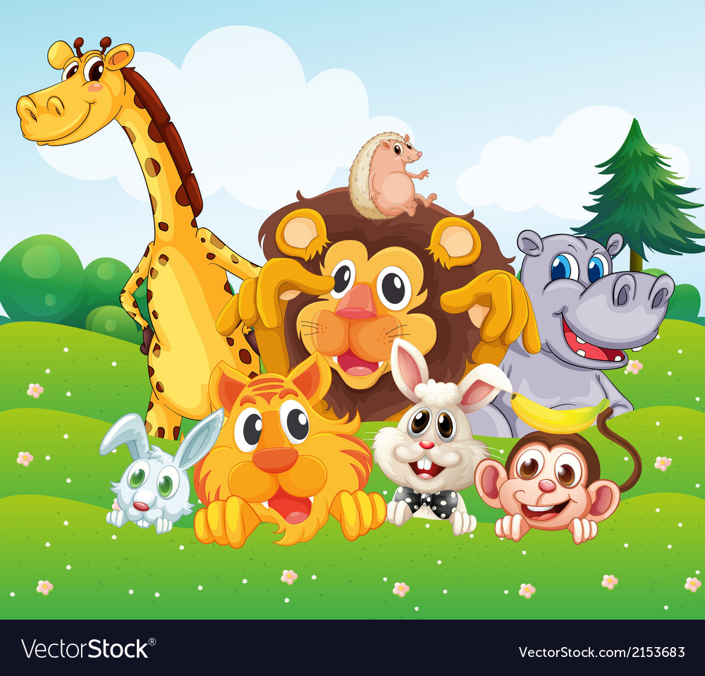 Animals at the hill vector   Price: 3 Credit (USD $3)