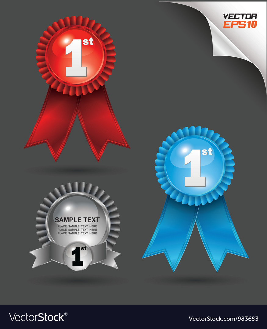 Award ribbon vector | Price: 3 Credit (USD $3)