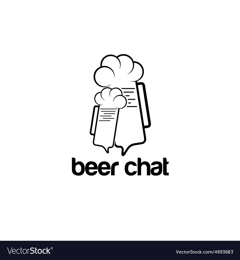 Beer chat concept design template vector | Price: 1 Credit (USD $1)