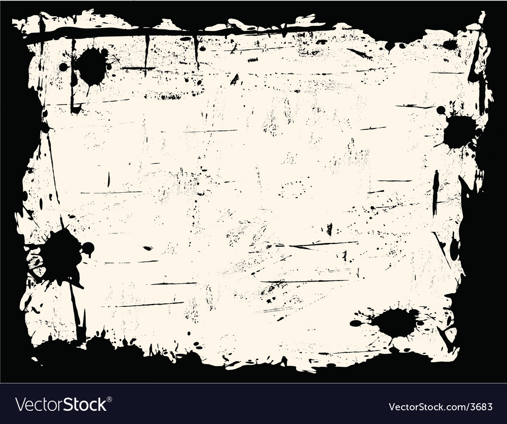 Black and white grunge border vector | Price: 1 Credit (USD $1)