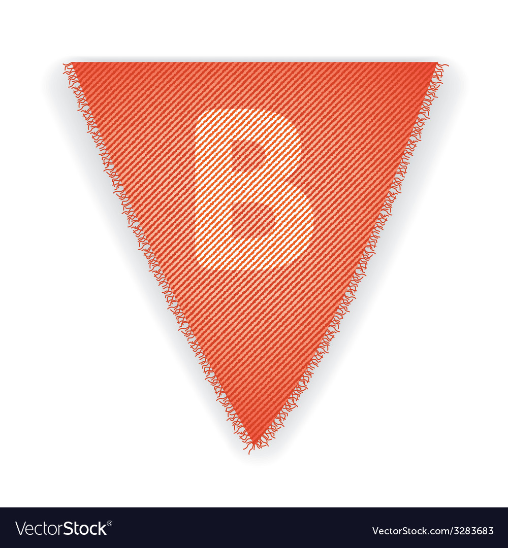 Bunting flag letter b vector | Price: 1 Credit (USD $1)