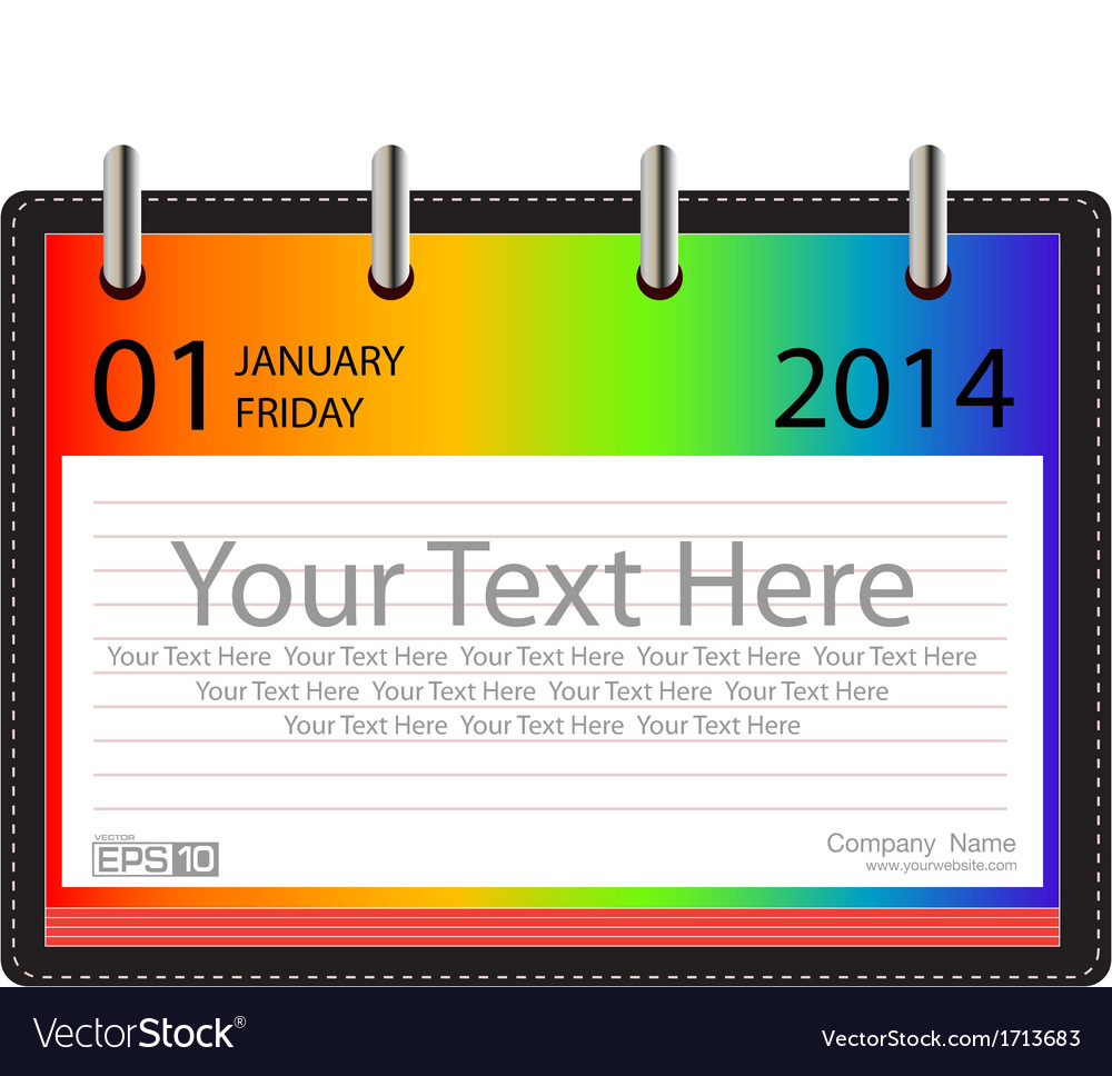 Calender 2014 background vector | Price: 1 Credit (USD $1)