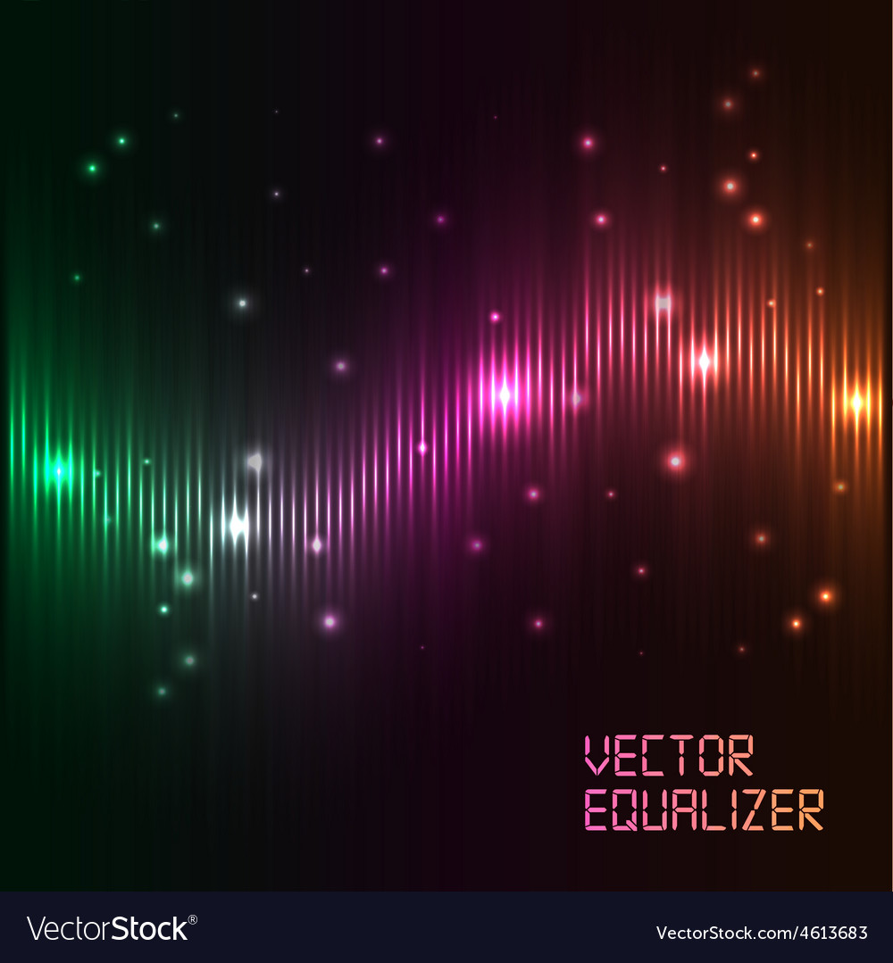 Digital equalizer with colored lights vector | Price: 1 Credit (USD $1)