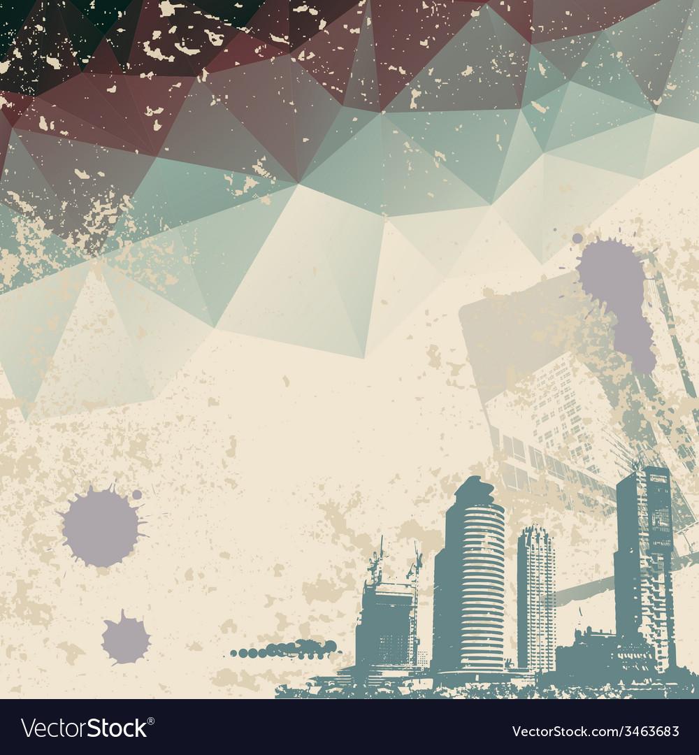 Grunge city vector   Price: 1 Credit (USD $1)