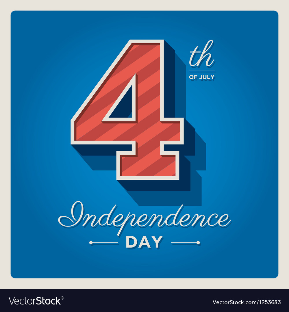 Happy independence day cards usa 4 th of july vector | Price: 1 Credit (USD $1)