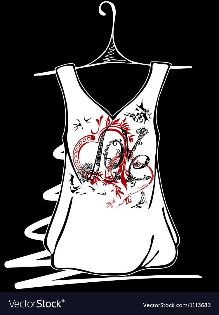 Sketch design t-shirts vector | Price: 1 Credit (USD $1)