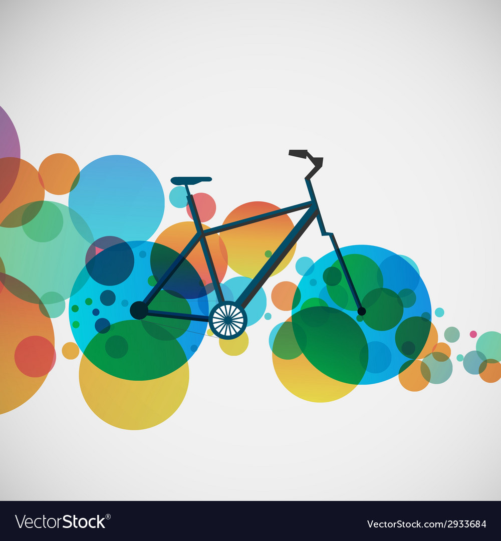 Bicycle on a background of bright beads vector | Price: 1 Credit (USD $1)