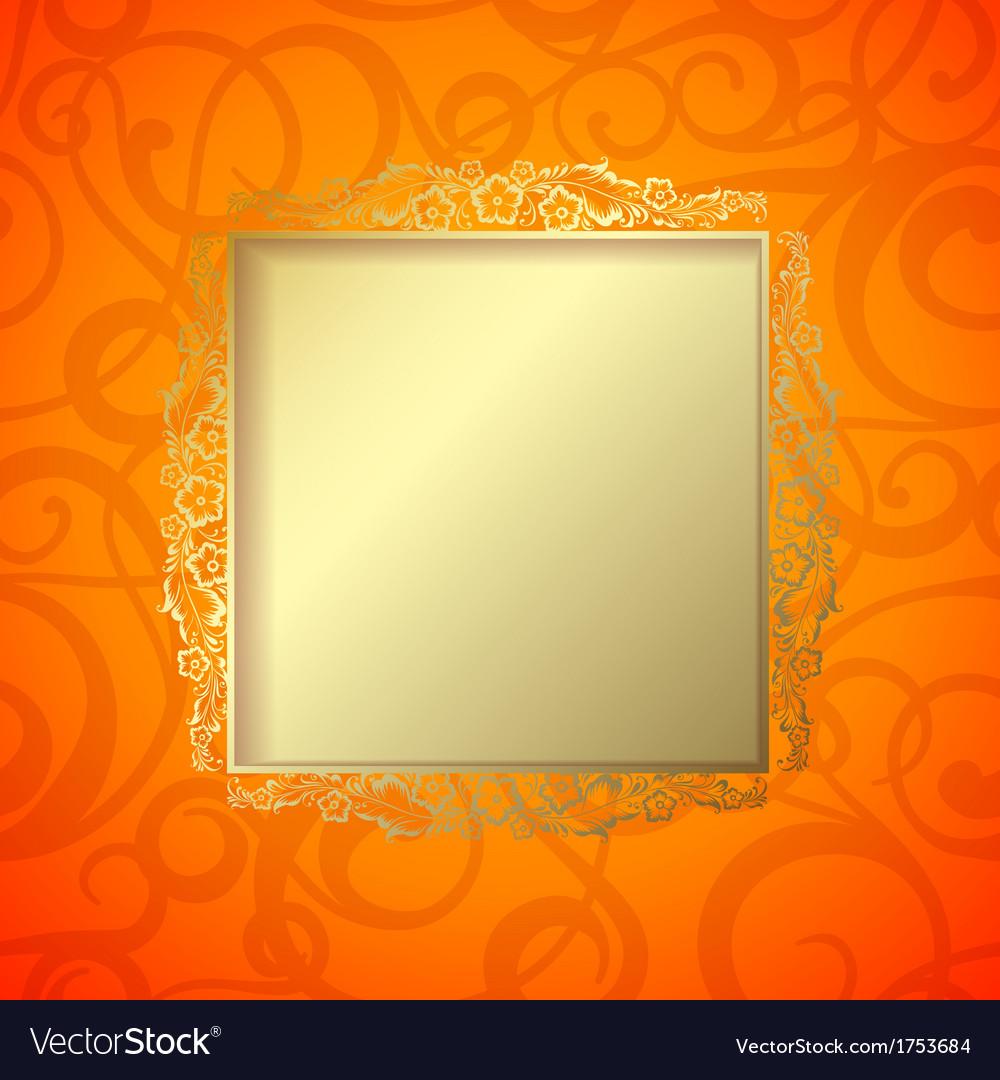 Border curves frame vector | Price: 1 Credit (USD $1)