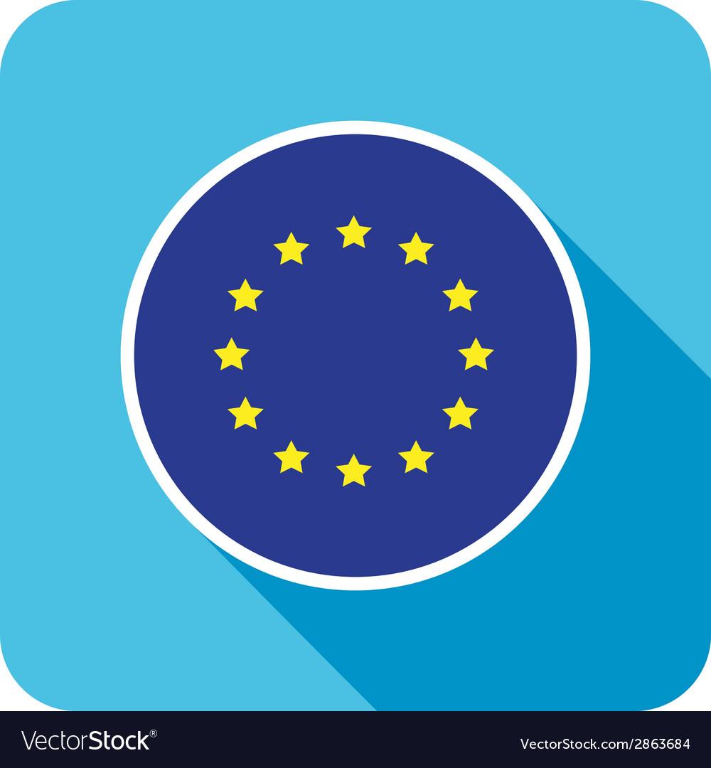 Flat european icon vector | Price: 1 Credit (USD $1)