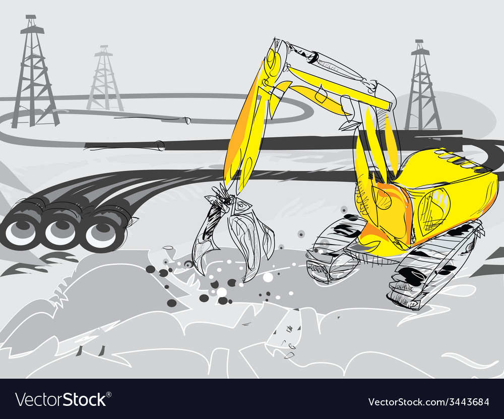 Gas pipes vector | Price: 1 Credit (USD $1)
