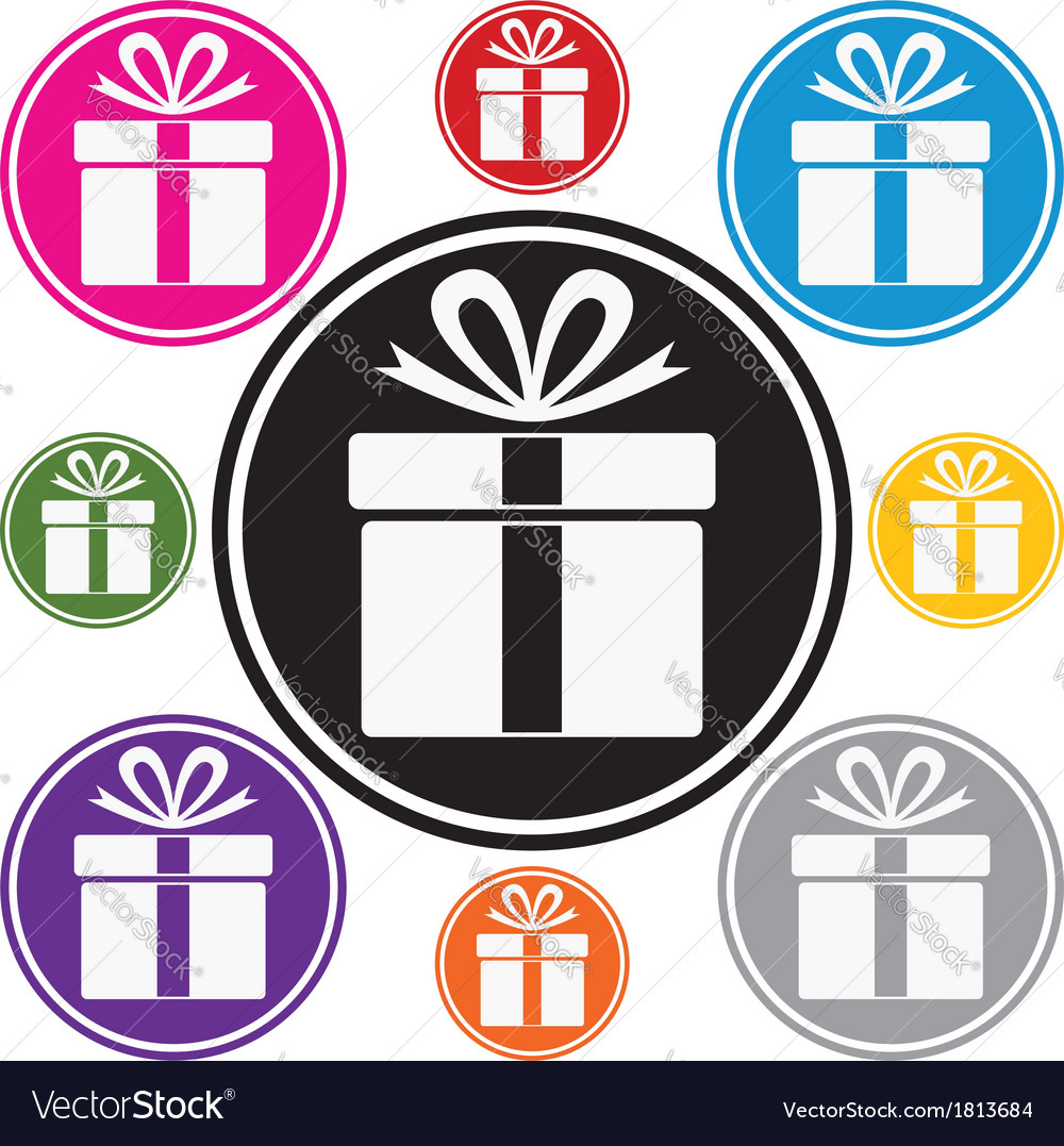 Gift box symbols vector | Price: 1 Credit (USD $1)