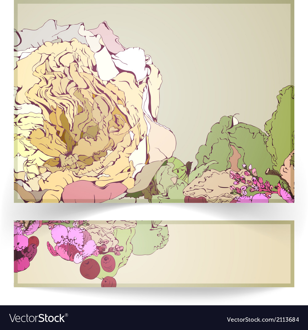Greeting card and banner vector | Price: 1 Credit (USD $1)