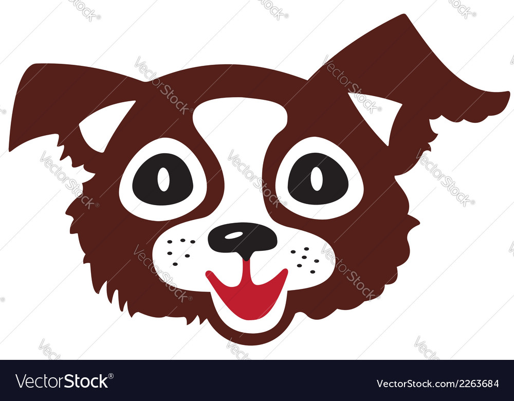 Head of little dog vector | Price: 1 Credit (USD $1)
