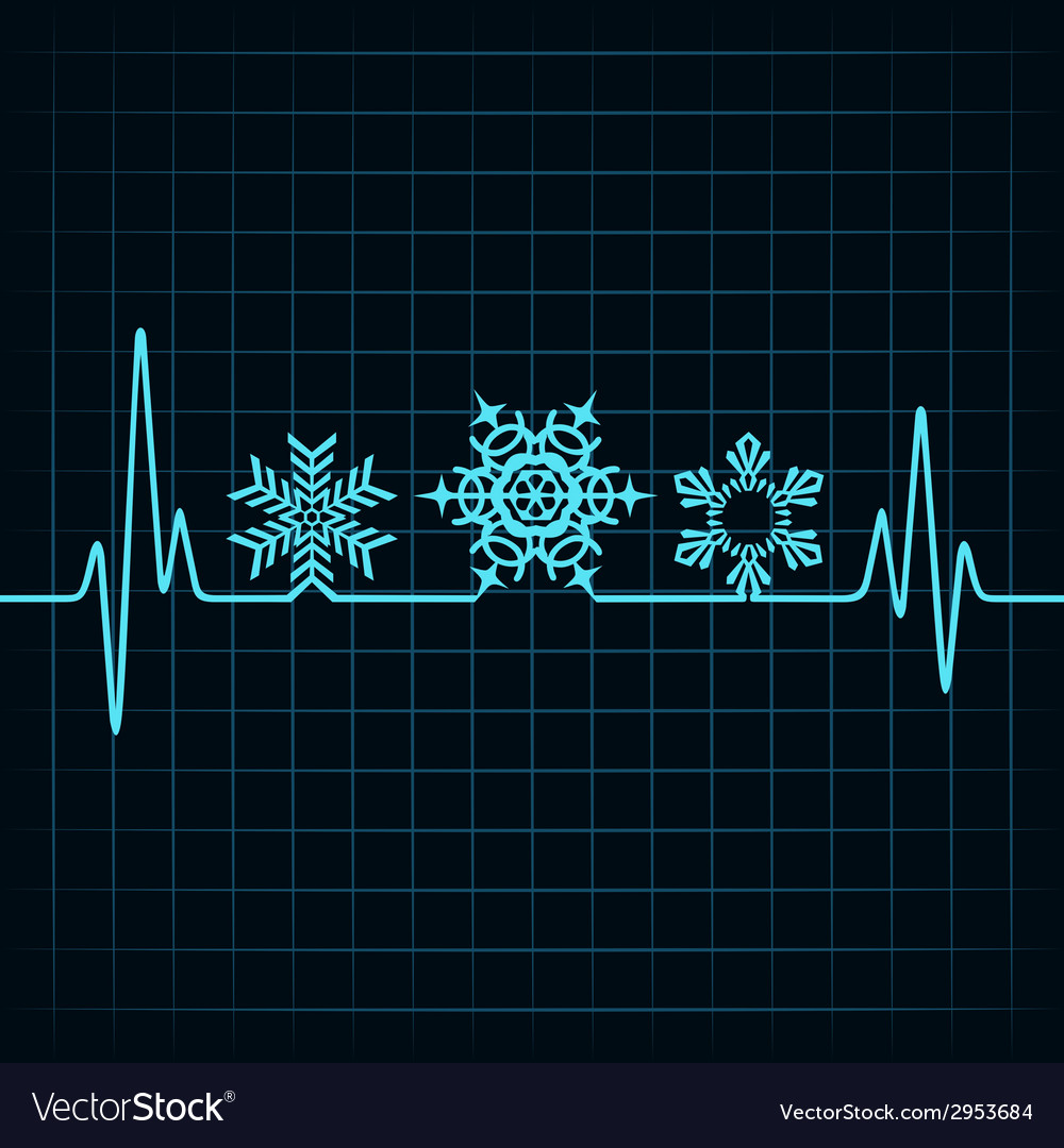 Heartbeat make christmas symbols stock vector | Price: 1 Credit (USD $1)