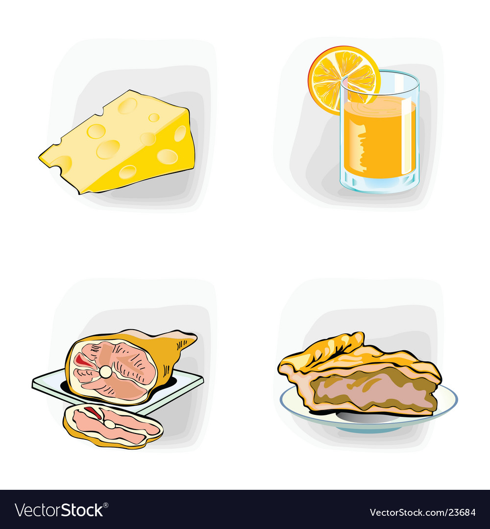Meal icons vector | Price: 1 Credit (USD $1)