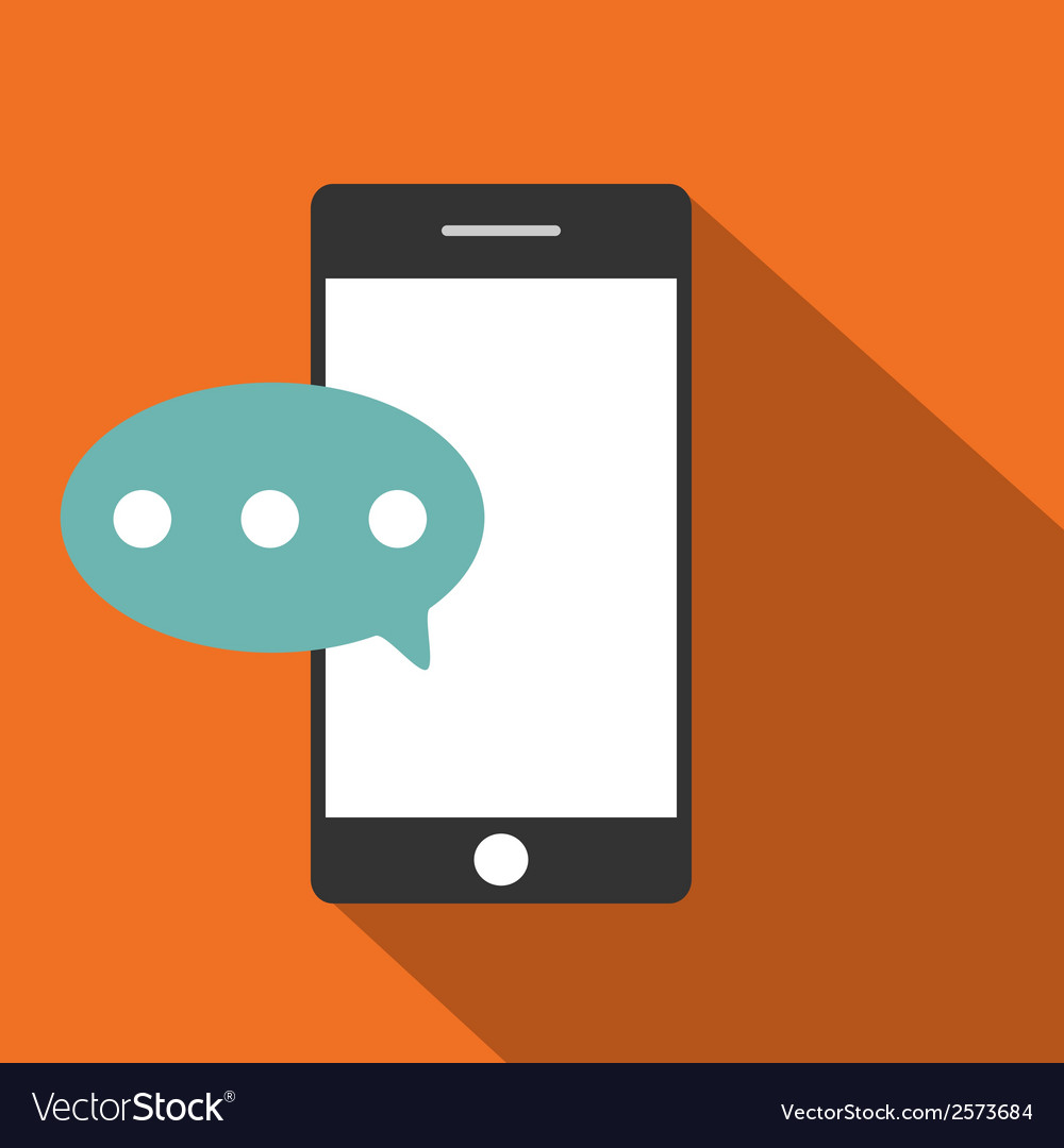 Mobile phone flat icon vector | Price: 1 Credit (USD $1)