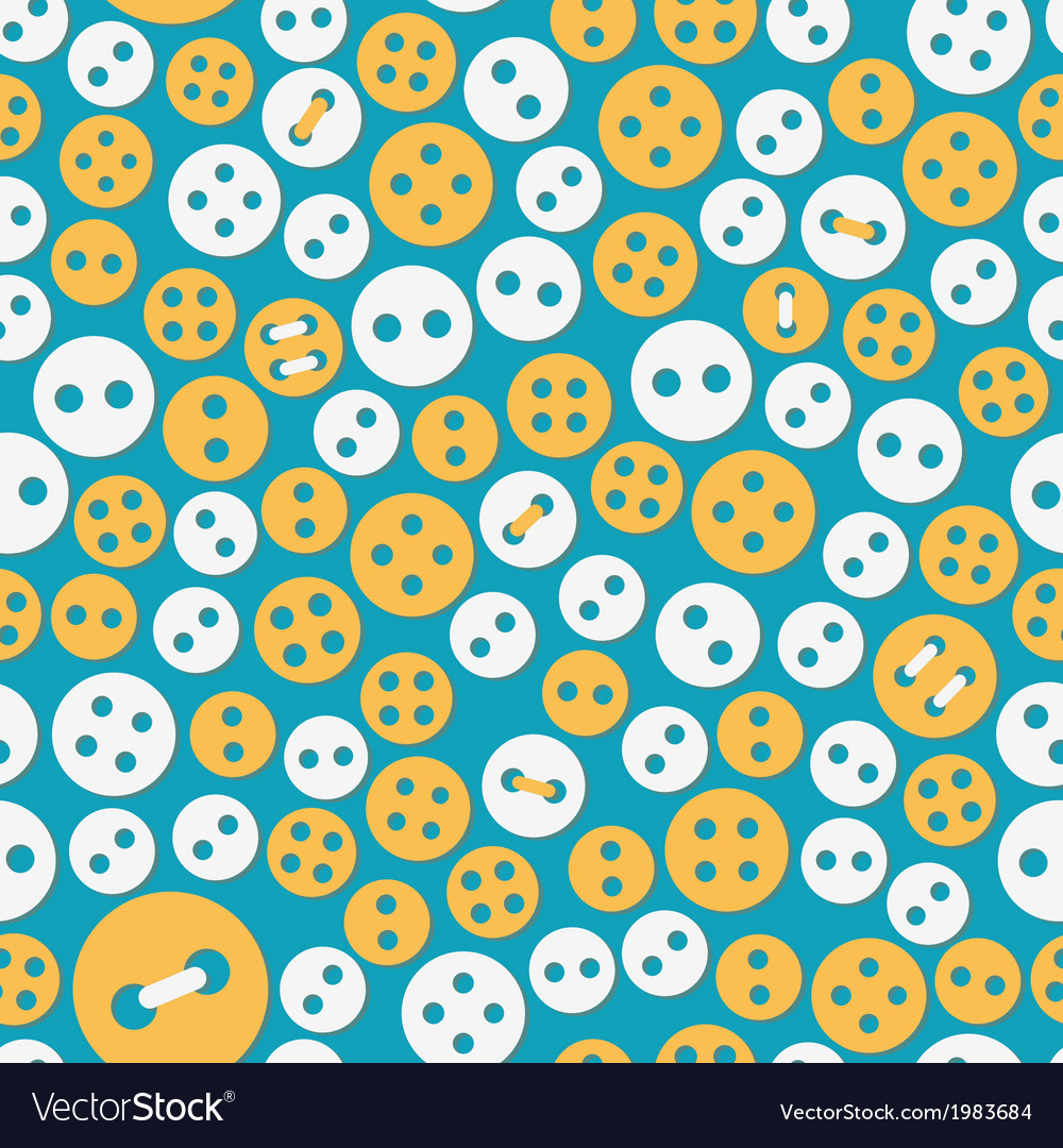 Sewing seamless with buttons vector | Price: 1 Credit (USD $1)