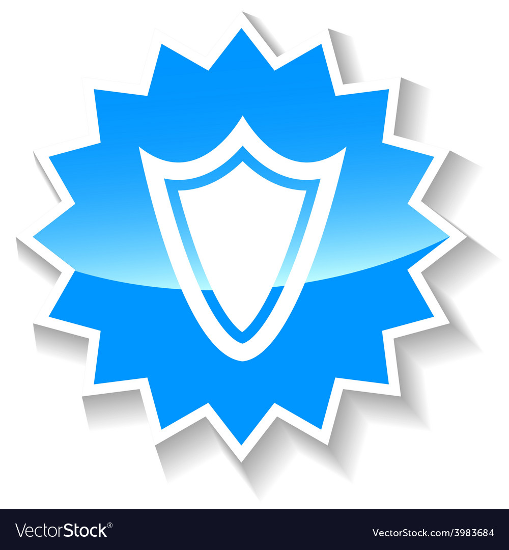 Shield blue icon vector | Price: 1 Credit (USD $1)