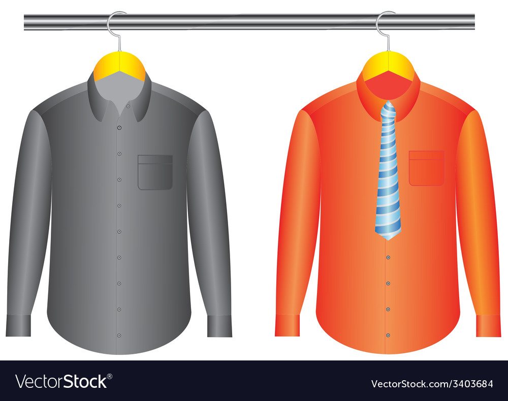 Shirts with hanger vector   Price: 1 Credit (USD $1)
