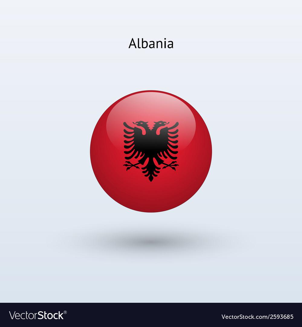 Albania round flag vector | Price: 1 Credit (USD $1)