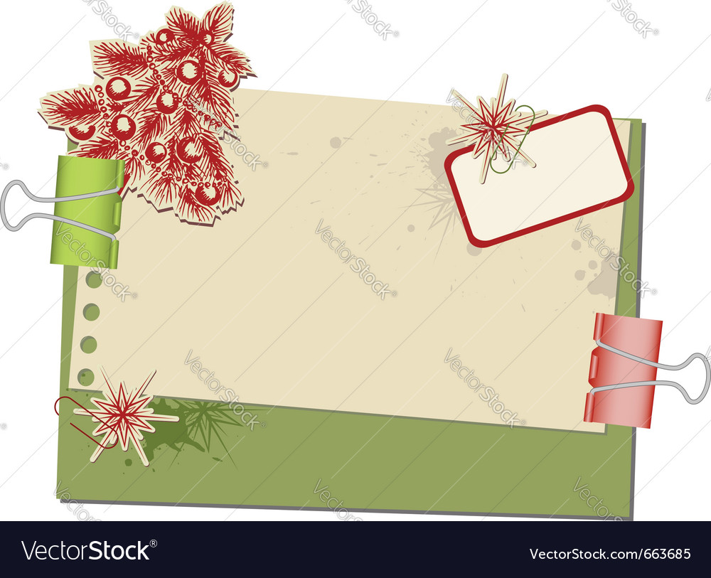 Christmas background with old spotted paper and pa vector | Price: 1 Credit (USD $1)