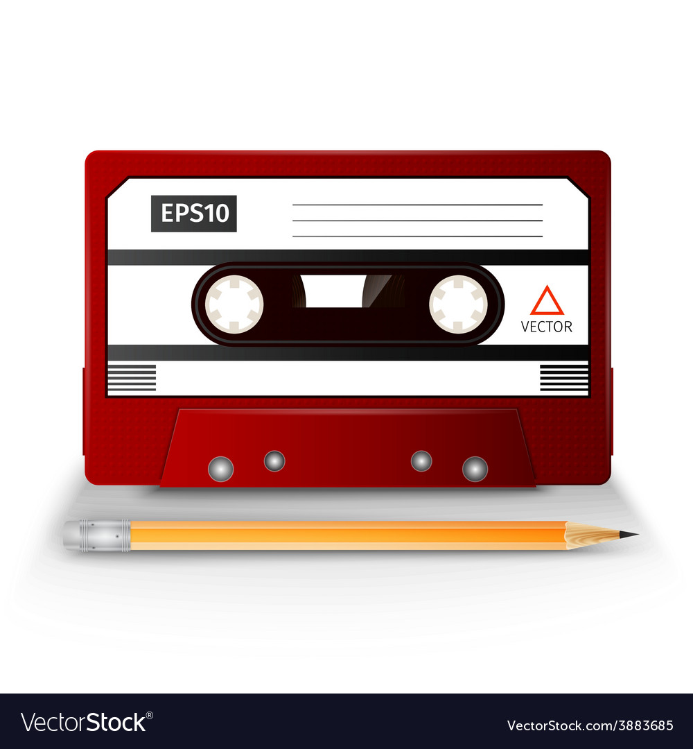Close up of vintage audio tape vector | Price: 1 Credit (USD $1)