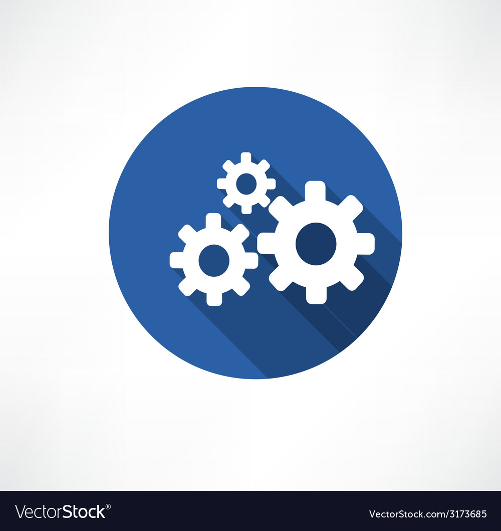 Flat icon of gears vector | Price: 1 Credit (USD $1)