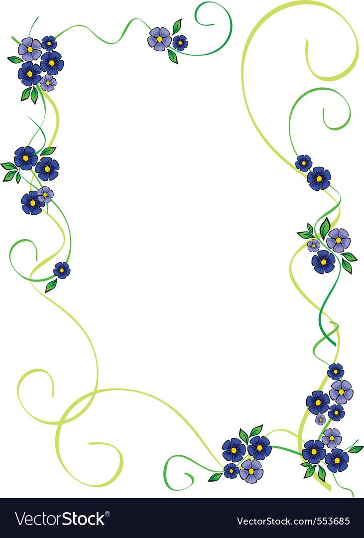 Flower frame vector | Price: 1 Credit (USD $1)
