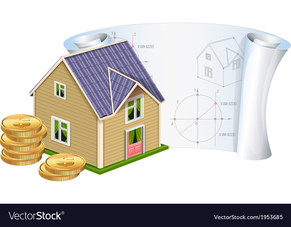 House with money vector | Price: 1 Credit (USD $1)