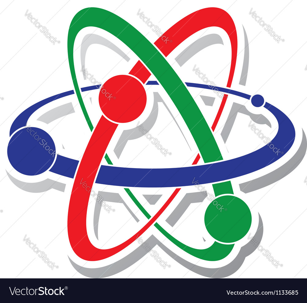 Icon of atom vector | Price: 1 Credit (USD $1)