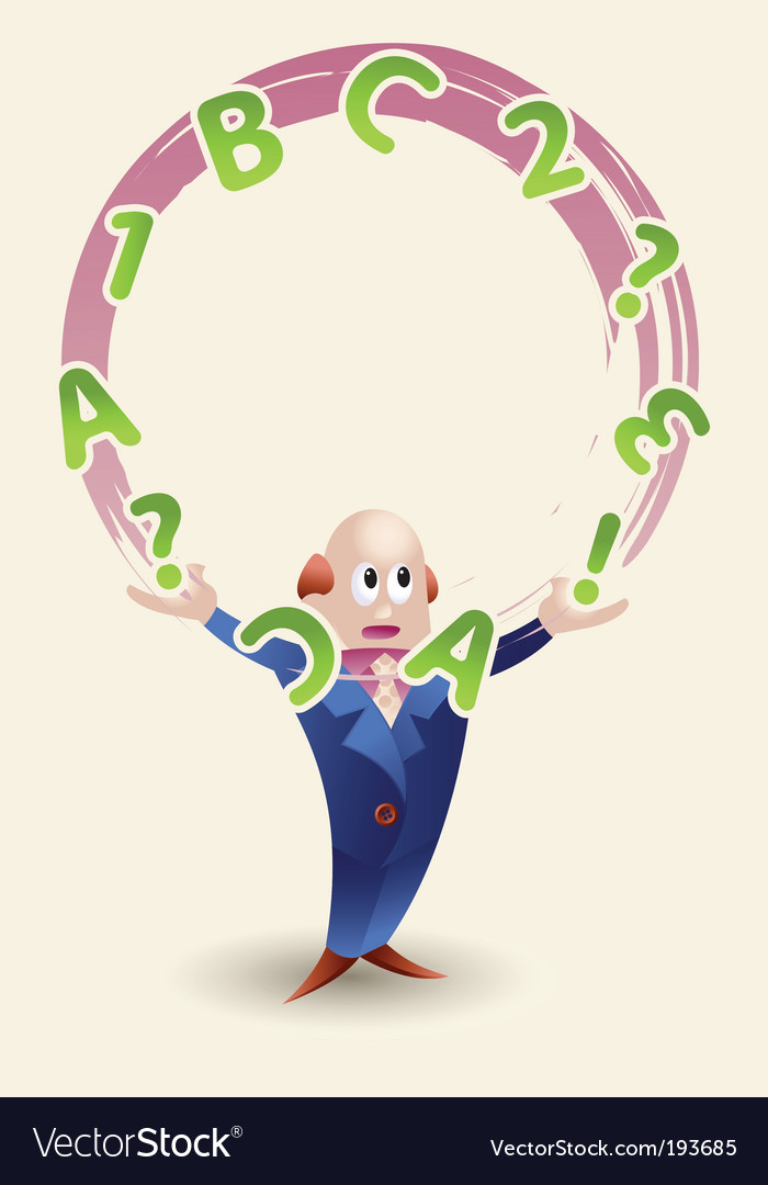 Man juggling with letters vector | Price: 1 Credit (USD $1)