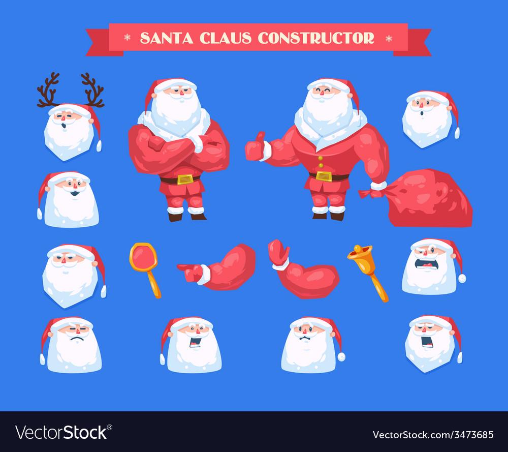 Merry christmas santa set vector   Price: 1 Credit (USD $1)