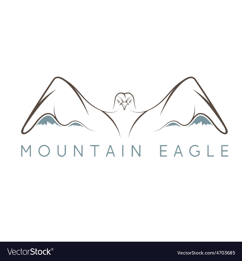 Mountain eagle design template vector | Price: 1 Credit (USD $1)