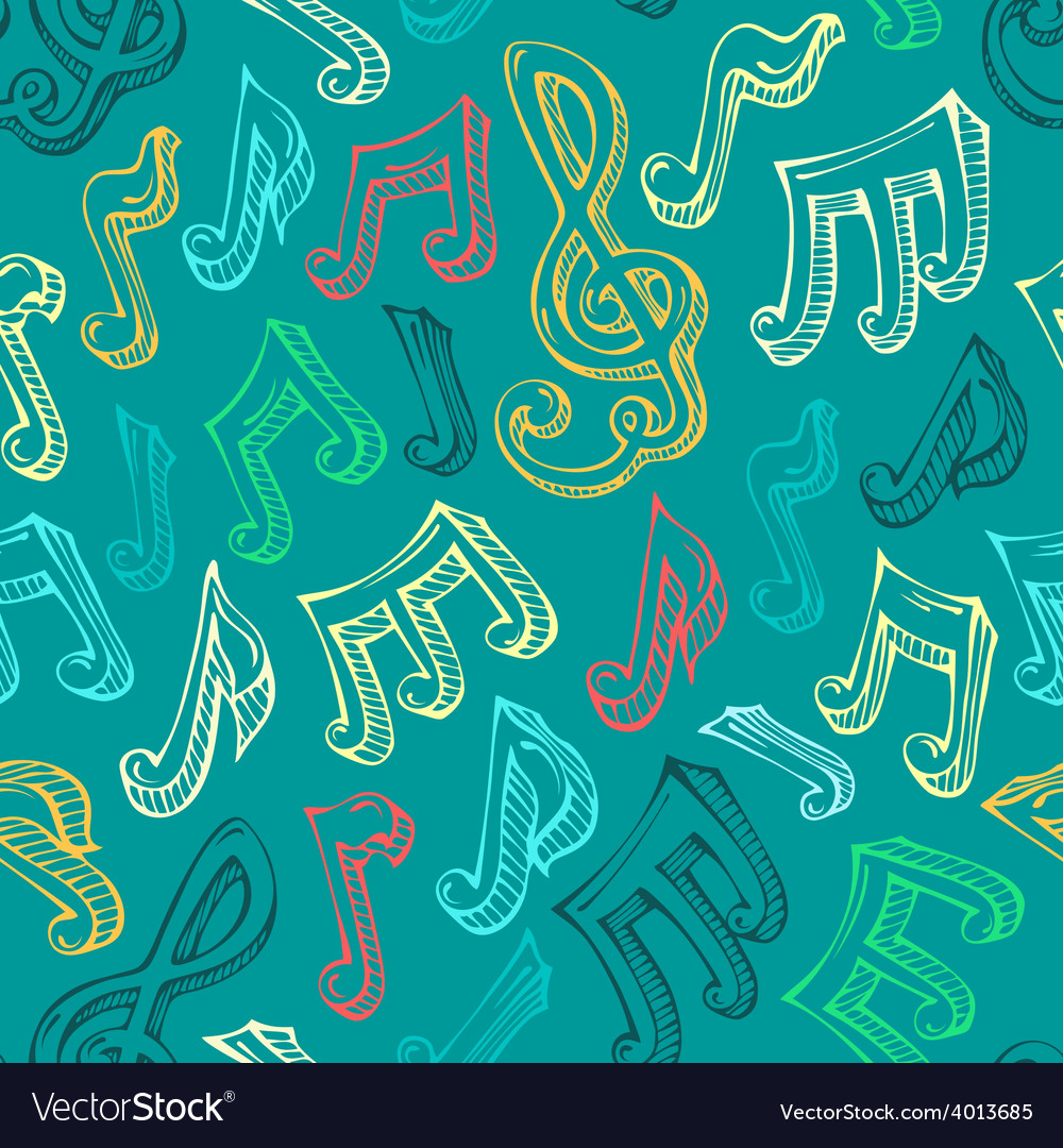 Retro seamless music pattern vector | Price: 1 Credit (USD $1)
