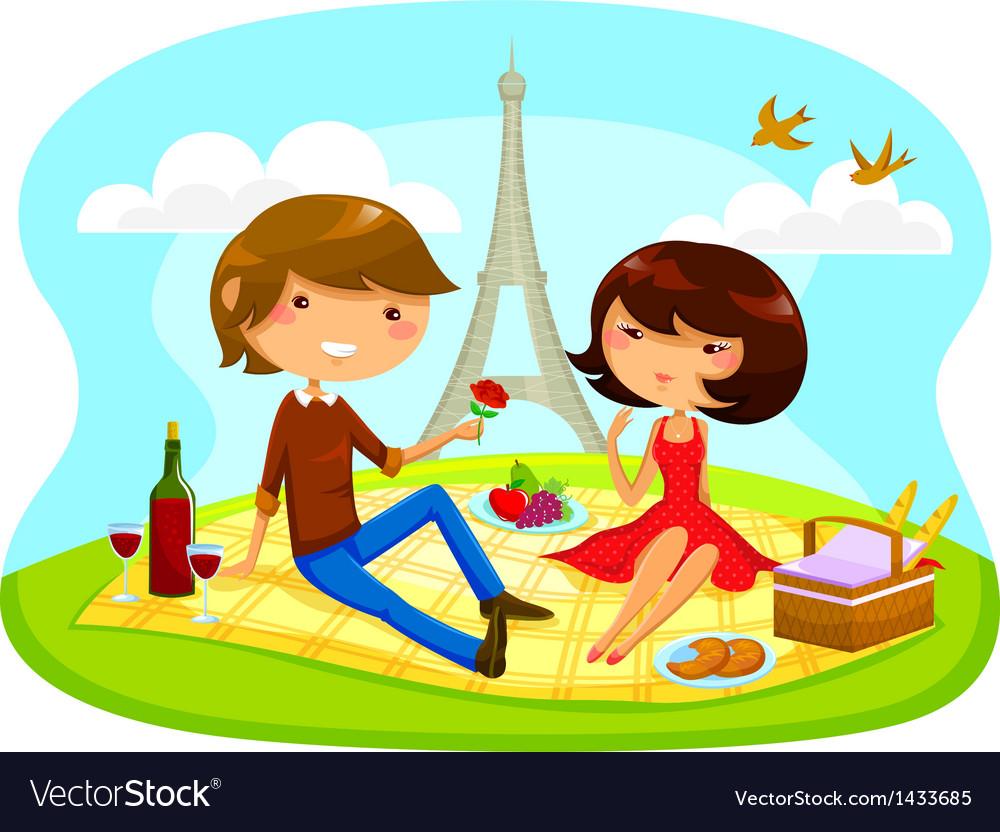 Romantic picnic vector | Price: 3 Credit (USD $3)