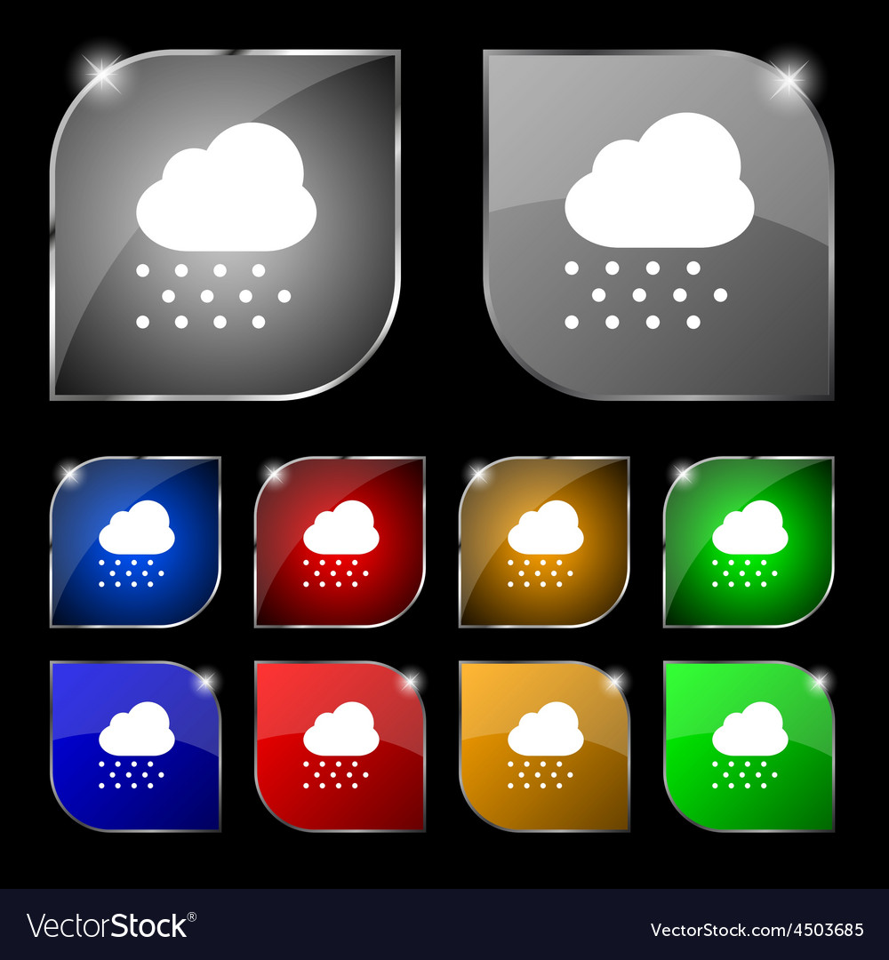 Snowing icon sign set of ten colorful buttons with vector   Price: 1 Credit (USD $1)